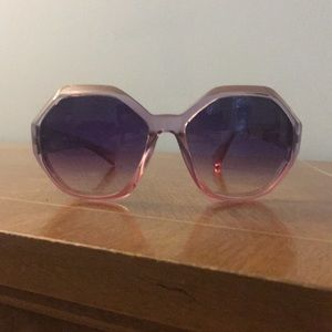 NEW Anthropologie Hexagon Ombré Sunglasses